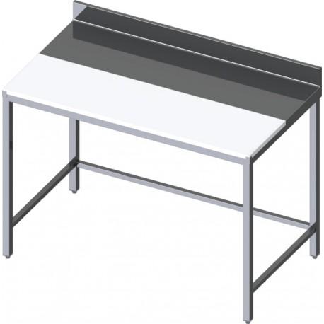 Table de découpe mixte inox et polyéthylène centrale ou adossée Profondeur 700m