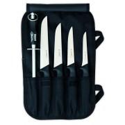 Pochette 4 couteaux + aiguiseur GIESSER MESSER
