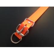 Collier imputrescible orange fluo pour chien