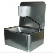 Lave-mains en inox, avec commande au genou
