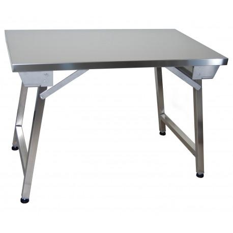 Table en inox pliante